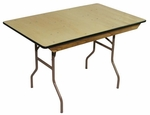 4' Caterer Elite Series Table with Non Marring Floor Glides - 30''W x 48''L x 30''H [216501-MES]