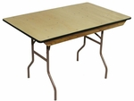 4' Rental Elite Series Folding Table with Non Marring Floor Glides - 30''W x 48''L x 30''H [216001-MES]