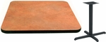30'' Square Laminate Table Top with Vinyl T-Mold Edge and Base - Standard Height [ATS3030-T2222M-SAT]