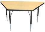 High Pressure Laminate Trapezoid Shaped Activity Table - 30-60''W x 30''D x 23.25-32.25''H [ACT7211-NSL]