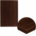 30'' x 45'' High-Gloss Walnut Resin Table Top with 2'' Thick Edge