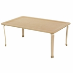 30''W x 48''D Rectangular Multi-ply Birch Bentwood Table with 20''H Legs [ELR-14303-20-ECR]
