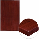 30'' x 48'' High-Gloss Mahogany Resin Table Top with 2'' Thick Edge