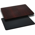 30'' x 60'' Rectangular Table Top with Reversible Black or Mahogany Laminate Top