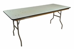 6' Reliant Standard Series Banquet Table with Non Marring Floor Glides - 30''W x 72''L x 30''H [203000-MES]