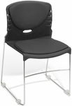 300 lb. Capacity Stack Chair with Fabric Seat and Back - Black [320-F-805-MFO]