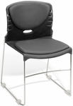 300 lb. Capacity Stack Chair with Anti-Microbial and Anti-Bacterial Vinyl Seat and Back - Charcoal [320-VAM-604-MFO]
