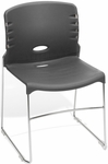 300 lb. Capacity Plastic Seat and Back Stack Chair - Gray [320-P07-MFO]