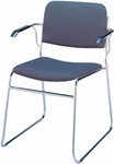 300 Series Stacking Steel Frame Guest Armchair with Sled Base and 1.5'' Upholstered Seat [311-IFK]