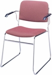 300 Series Stacking Chrome Steel Frame Guest Armchair with Sled Base and 2'' Upholstered Seat [321-CH-IFK]