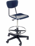 3000 Series Lab Stool with 19.5''H - 27''H Adjustable Seat Height - 25''W x 25''D x 31.5''H - 38.75''H [3860GCLS-VCO]