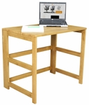 Flip Flop 28''H Rectangular Folding Wooden Desk - Oak [HDSKF3121MO-FS-REG]