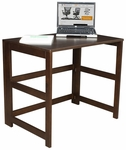 Flip Flop 28''H Rectangular Folding Wooden Desk - Mocha Walnut [HDSKF3121MW-FS-REG]