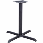 33'' x 33'' X-Base with 4'' Dia. Table Height or Bar Height Column [BFHD-5-XBAS-TDR]