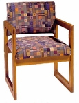 3300 Lounge Chair w/ Upholstered Back & Seat - Grade 2 [3300-GRADE2-ACF]