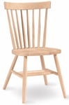 Copenhagen Parawood Armless Spindle Back 34''H Chair - Unfinished [1C-285-FS-WHT]