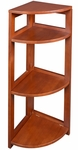 Flip Flop 34''H High Corner Folding Wooden Bookcase - Cherry [FFC3412CH-FS-REG]