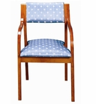 3400 Stacking Reception Chair w/ Upholstered Back & Seat - Grade 2 [3400-GRADE2-ACF]