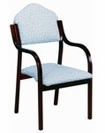3410 Stacking Chair w/ Upholstered Back & Seat - Grade 2 [3410-GRADE2-ACF]