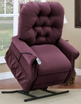 Two Way Reclining 500 Lb. Capacity Bariatric Power Lift Chair with Matching Arm and Headrest Covers - Aaron Berry Fabric [3555-AABE-FS-MEDL]