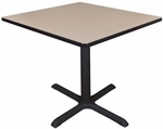 Cain 36'' Square Laminate Breakroom Table with PVC Edge - Beige [TB3636BE-FS-REG]