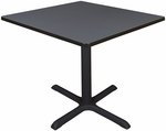Cain 36'' Square Laminate Breakroom Table with PVC Edge - Gray [TB3636GY-FS-REG]