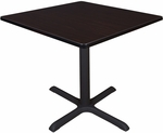 Cain 36'' Square Laminate Breakroom Table with PVC Edge - Walnut [TB3636MW-FS-REG]