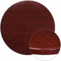 36'' Round High-Gloss Mahogany Resin Table Top with 2'' Thick Edge