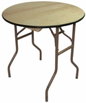 36'' Reliant Standard Series Round Folding Table with Non Marring Floor Glides - 36''W x 30''H [221000-MES]