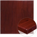 36'' Square High-Gloss Mahogany Resin Table Top with 2'' Thick Edge