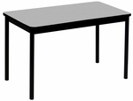 High Pressure Laminate Rectangular Lab Table with Black Base and T-Mold - Gray Granite Top - 36''D x 72''W [LT3672-15-CRL]