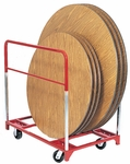Steel Frame Round Folding Table Mover with 6'' Casters [3702-RPC]