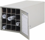 38'' D Sixteen Tube Steel Roll File with Dust Resistant Reversible Doors - Tropic Sand [4960-FS-SAF]