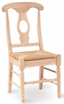 Empire Solid Parawood Armless 38''H Dining Chair - Set of 2 - Unfinished [C-1200P-FS-WHT]