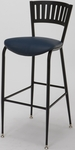 3818LA Series Steel Frame Armless Cafe Barstool with Contoured Slatted Metal Back and 2'' Upholstered Seat [BR3818LA-IFK]