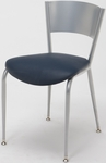 3800 Series Round Steel Frame Armless Cafe Chair with Contoured Metal Back and 2'' Upholstered Seat [3818LC-IFK]