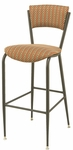 3818P Series Steel Frame Armless Cafe Barstool with Upholstered Back and 2'' Upholstered Seat [BR3818P-IFK]