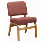3845 Fellowship Chair with Upholstered Back & Seat - Grade 1 [3845-GRADE1-ACF]