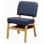 3846 Fellowship Chair with Book Shelf, Upholstered Back & Seat - Grade 2 [3846-GRADE2-ACF]