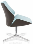 4+ Executive Lounge Chair on 4-Star Base - Leather [FP7011-LEA-FS-DV]