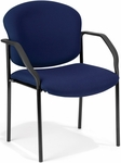 Manor Guest and Reception Fabric Chair with Arms - Navy [404-804-MFO]