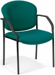 Manor Guest and Reception Fabric Chair with Arms - Teal [404-802-MFO]