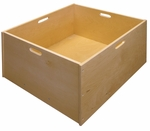 4 Sided Solid Hardwood Mobile Block Tub with Built-in Handles on Each Side [ELR-0341-ECR]