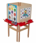 4 Sided Adjustable Board Height Easel with Attached Trays - 20''W x 24''D x 48''H [19100-WDD]