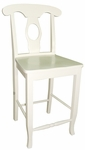 Empire Solid Parawood 40''H Counter Height Stool - Linen White [S31-122W-FS-WHT]