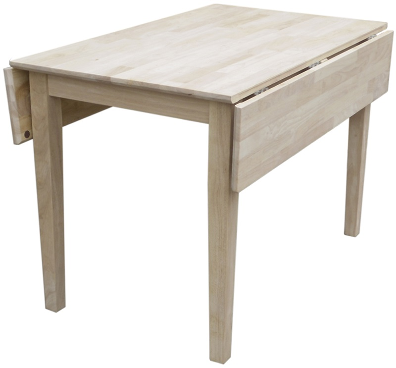 Butcher block top solid wood 40 39 39 w x 29 39 39 h square dual for Square drop leaf dining table