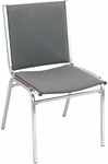 400 Series Stacking Square Steel Frame Armless Guest Chair with Full Back and 1'' Upholstered Seat [410-IFK]