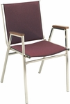 400 Series Stacking Square Steel Frame Hospitality Armchair with Full Back and 1'' Upholstered Seat [411-IFK]