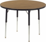 4000 Series Round Laminate Activity Table - 36'' Diameter x 22''H - 30''H [4836R-VCO]