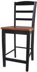Madrid Solid Wood 41''H Counter Height Stool with Ladder Back - Cherry [S57-402-FS-WHT]